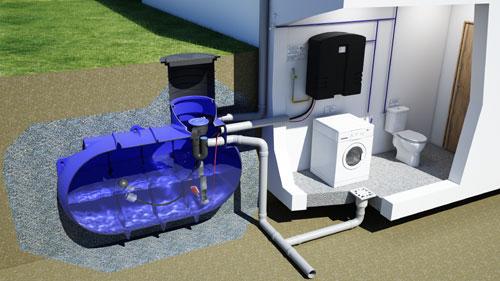 r cup rateur d 39 eau de pluie pour le jardin ou la maison. Black Bedroom Furniture Sets. Home Design Ideas